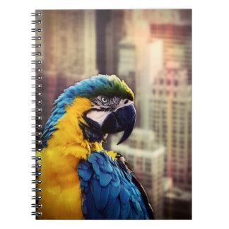 Bird In The City Spiral Notebook