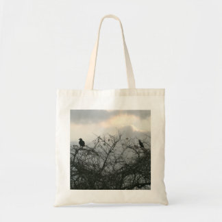 Bird in the Storm Budget Tote Bag