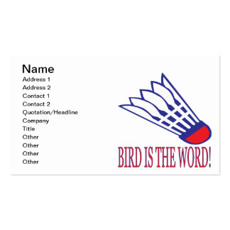 Bird Is The Word 2 Pack Of Standard Business Cards
