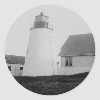 Bird Island Lighthouse Round Sticker