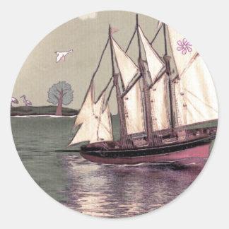 Bird Island Round Sticker