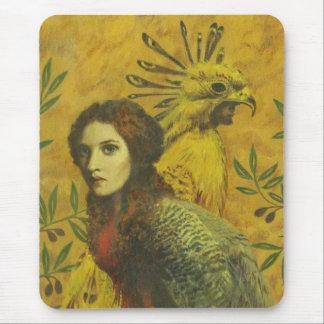Bird Lady Mutant Design Mouse Pad