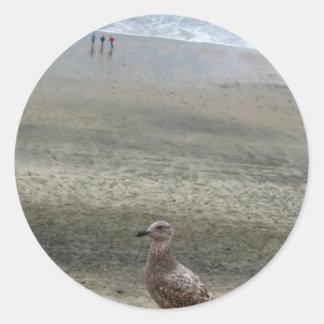 Bird Layers Round Sticker