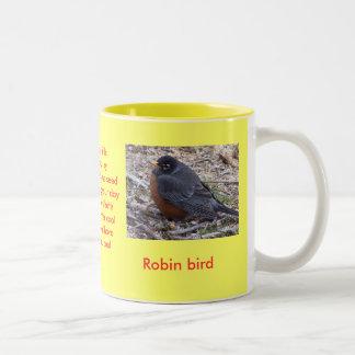 Bird lover cup  ROBIN Two-Tone Mug