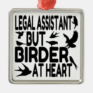 Bird Lover Legal Assistant Christmas Ornament
