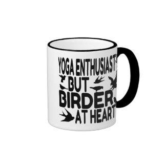 Bird Lover Yoga Enthusiast Ringer Mug