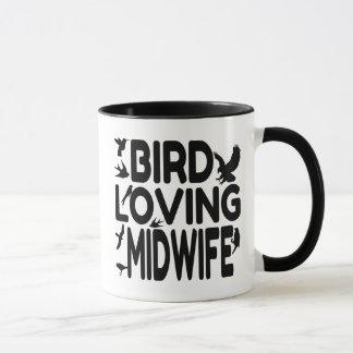 Bird Loving Midwife Mug