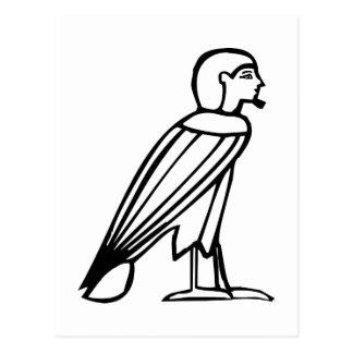 Bird man(Soul), Egyptian hieroglyph Postcard