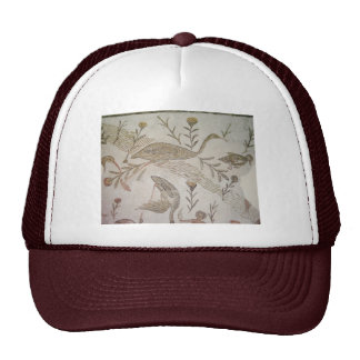 Bird Mosaic in Tunisia Cap