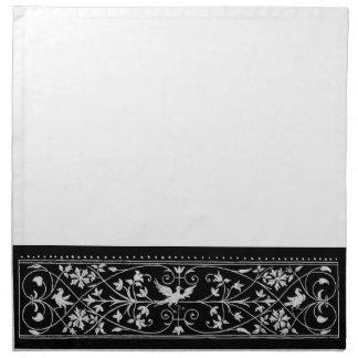 bird motif napkins