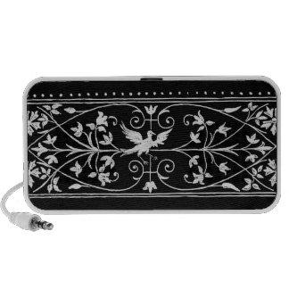 bird motif laptop speakers