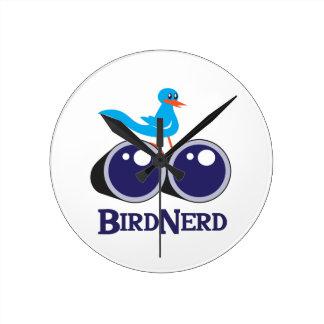 BIRD NERD ROUND WALLCLOCK