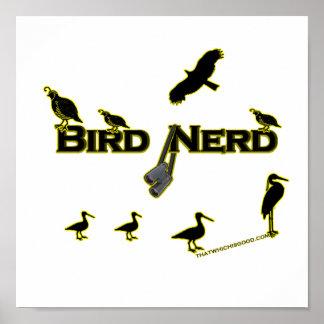 Bird Nerd Silhouette Poster