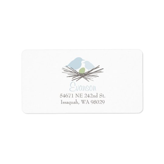 Bird Nest Address Label