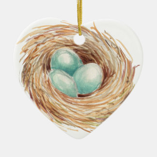 Bird Nest Christmas Ornament