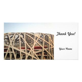 Bird Nest Stadium Customised Photo Card
