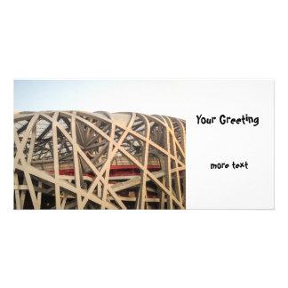 Bird Nest Stadium Photo Greeting Card