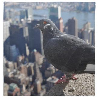 Bird New York City Manhattan Usa Sky Urban Napkin