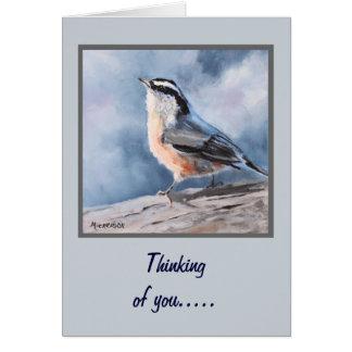 Bird Nuthatch Fine Art Greeting Card