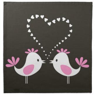 Bird of love2 cloth napkins