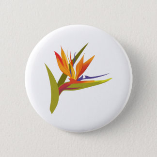 BIRD OF PARADISE 6 CM ROUND BADGE