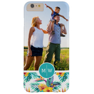 Bird Of Paradise | Add Your Photo & Monogram Barely There iPhone 6 Plus Case