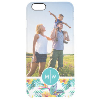 Bird Of Paradise | Add Your Photo & Monogram Clear iPhone 6 Plus Case