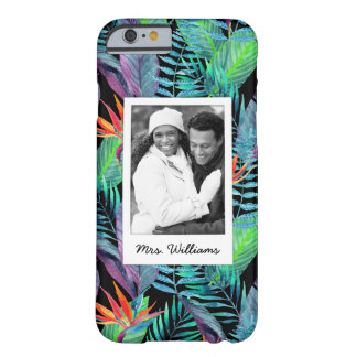 Bird Of Paradise | Add Your Photo & Name Barely There iPhone 6 Case