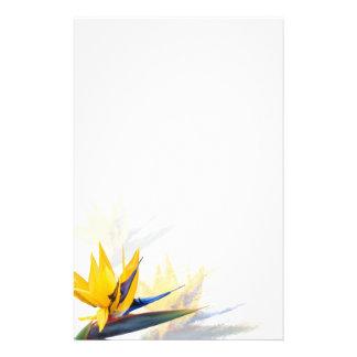 Bird of Paradise Blank Writing Paper Customized Stationery