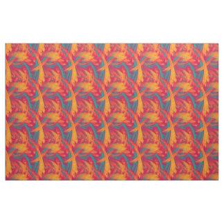Bird Of Paradise Bright Tropical Colors Fabric