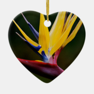 Bird of paradise ceramic heart decoration