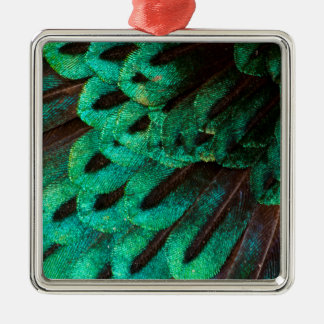 Bird of Paradise feather close-up Christmas Ornament