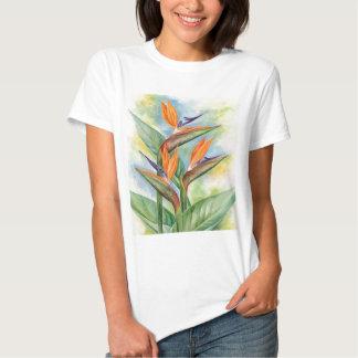 Bird Of Paradise Flower Art - Multi Tee Shirts
