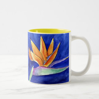 Bird of Paradise Flower Art Painting Mug or Cup