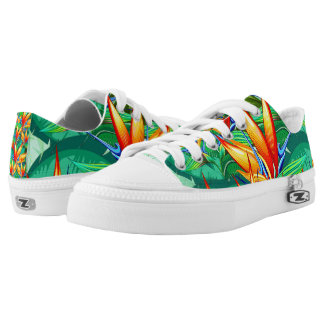 Bird of Paradise Flower Exotic Nature Printed Shoes