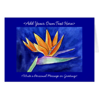 Bird of Paradise Flower Painting Greeting Cards