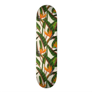 Bird Of Paradise Flower Pattern Skate Boards