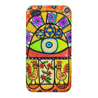 Bird Of Paradise Hamsa Cell Phone Case iPhone 4/4S Cover