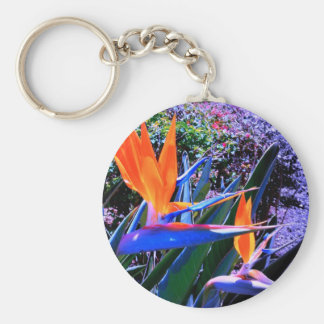 Bird of Paradise Hawaii Basic Round Button Key Ring