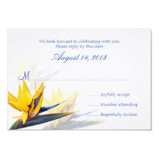 Bird of Paradise Hawaiian Wedding Reply Cards 9 Cm X 13 Cm Invitation Card