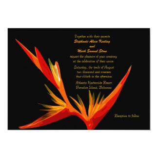 Bird of Paradise Invitation