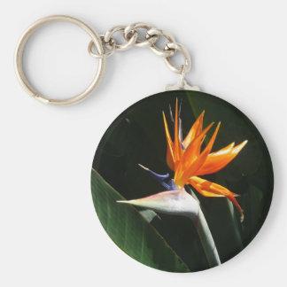 Bird of Paradise Orange Tropical Flower Key Ring
