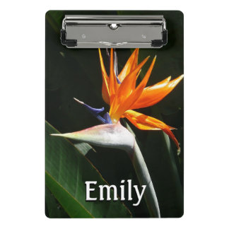 Bird of Paradise Orange Tropical Flower Mini Clipboard