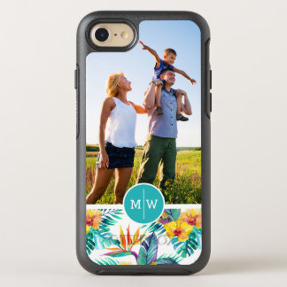 Bird Of Paradise & Orchid  Add Your Photo & Monogr OtterBox Symmetry iPhone 8/7 Case