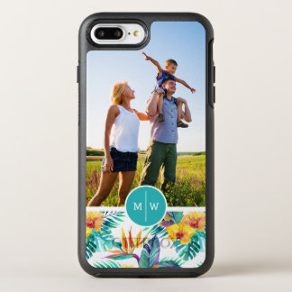 Bird Of Paradise & Orchid| Add Your Photo & Monogr OtterBox Symmetry iPhone 8 Plus/7 Plus Case