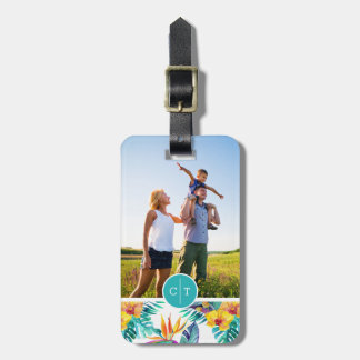 Bird Of Paradise & Orchid | Add Your Photo & Name Luggage Tag