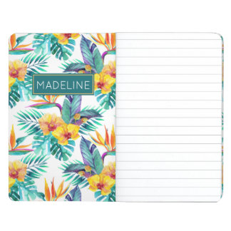 Bird Of Paradise & Orchid Pattern | Add Your Name Journal