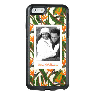 Bird Of Paradise Pattern   Add Your Photo & Name OtterBox iPhone 6/6s Case