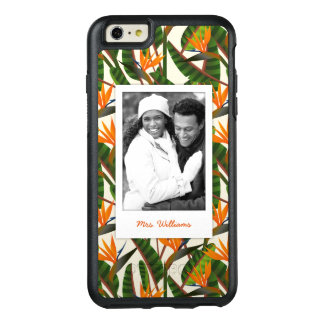 Bird Of Paradise Pattern   Add Your Photo & Name OtterBox iPhone 6/6s Plus Case