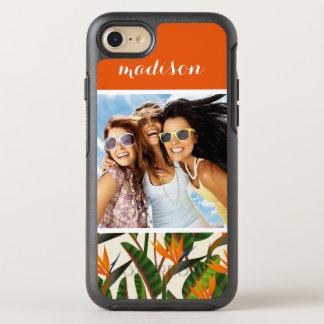 Bird Of Paradise Pattern | Add Your Photo & Name OtterBox Symmetry iPhone 8/7 Case